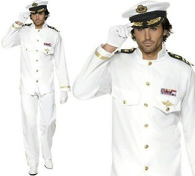 AU86.48 • Buy 80s 1980s Deluxe Sailor Captain Officer Fancy Dress Costume Outfit By Smiffys