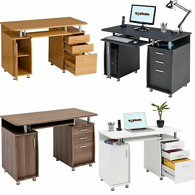 £148.99 • Buy Computer Desk With Storage & A4 Filing Drawer Home Office - Piranha Emperor PC 2