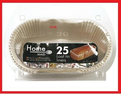 20 PACK 1lb SIZE NON STICK LOAF TIN LINERS DISPOSABLE BACKING COOKING PAPER 1036 • 6.95£