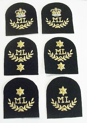 Royal Marines Mountain Leader (ml) Tombstone Badges - Blues And Lovats • 9.95£