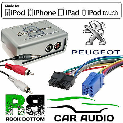 CTVPGX010 Peugeot 307 2002 - 2005 Car Aux In MP3 IPhone IPod Interface Adaptor • 34.95£
