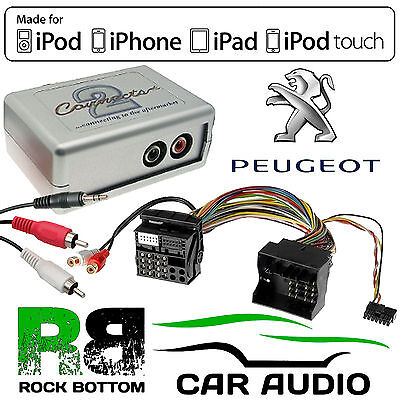£34.95 • Buy CTVPGX011 Peugeot 207 407 307 607 807 Car Aux In IPhone IPod Interface Adaptor