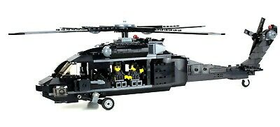 £109.11 • Buy Custom Army Transport Helicopter Military UH-60 Minigun Made With Real LEGO®