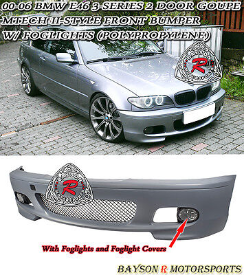 $339.99 • Buy M-Tech II Style Front Bumper With Fog Fits 00-06 BMW E46 3-Series 2dr Coupe