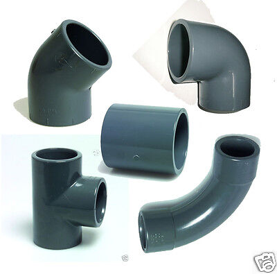 Grey PVC Koi Pond Imperial Pressure Pipe Fittings Solvent Weld  • 3.29£