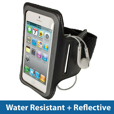 Black Anti-Slip Sport Jogging Armband For New Apple IPhone 5 5S 5C SE • 1.99£