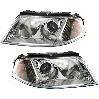 $118.89 • Buy Headlight Set For 2001-2005 Volkswagen Passat Left And Right With Bulb 2Pc