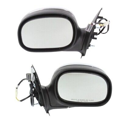 $67.61 • Buy Power Mirror Set Of 2 For 1997-2003 Ford F-150 Chrome Left And Right Manual Fold