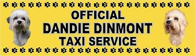 £4 • Buy DANDIE DINMONT TERRIER OFFICIAL TAXI SERVICE Dog Car Sticker  By Starprint
