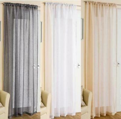£6.69 • Buy Sparkly Glitz Sheer Voile Slot Top Curtain Panel ~ 48  54 72  90  In Stock