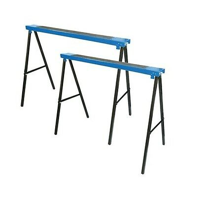 £32.88 • Buy Metal Saw Horse Twin Pack Metal Trestle Trestles Table Work Support 125KG Load