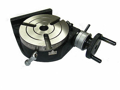Rdgtools New 100mm  4  Rotary Table 3 Slot Engineering Tools Milling  • 79.50£