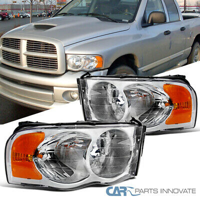 $74.95 • Buy For 02-05 Dodge Ram 1500/2500/3500 Pickup Clear Headlights Head Lamps Left+Right