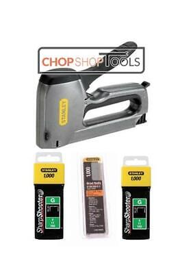 Stanley Stapler & Nail Gun Complete With 1000 Of 10mm, 12mm Staples & 15mm Brads • 31.88£