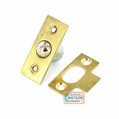 16mm Brass Bales Ball Catch For Doors Cupboards - Spring Roller Catch • 2.24£