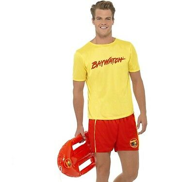 £27.99 • Buy Mens Licensed Baywatch Beach Lifeguard Fancy Dress Costume By Smiffys