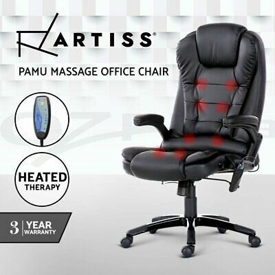 AU249.95 • Buy Artiss Massage Gaming Office Chair 8 Point Heated Chairs Computer Seat Black