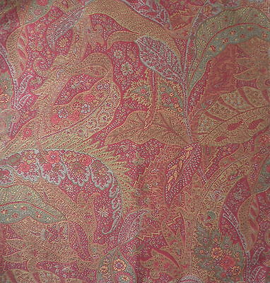 $32 • Buy CLARENCE HOUSE ETRO Feuillage Leaf Red Paisley Italy Remnant New