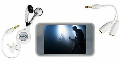 Logic3 IPod Touch Starter Pack Comes With Earphones And Splitter Adapter  • 4.58£