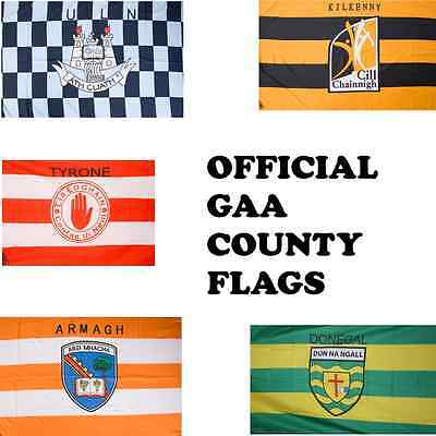Official GAA Irish County Flags - Various Sizes - Stick & Car - All 32 Counties • 11.99£