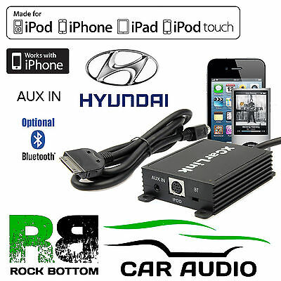 SKU931 Hyundai Car Stereo Radio AUX IN IPod IPhone Interface Connection Cable • 84.99£