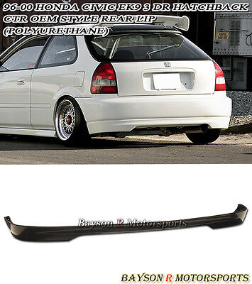 $84.99 • Buy CTR TR-Style Rear Lip (Urethane) Fits 96-00 Civic 3dr