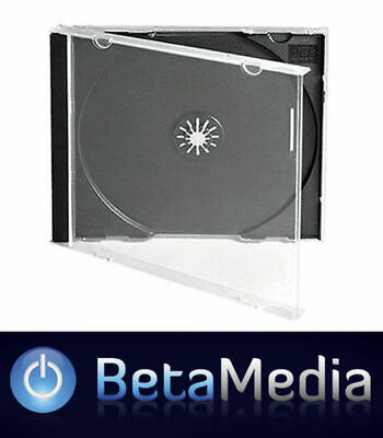 AU35.80 • Buy 50 X Jewel CD Cases With Black Tray Single Disc - Australian Standard Size Case