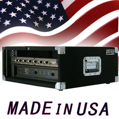 AU167.28 • Buy Amp Rack Case 4 U Space Heavy Duty For Power Amplifiers Processors Music Gear