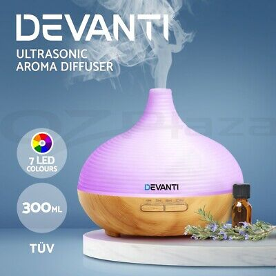 AU37.95 • Buy Devanti Aromatherapy Diffuser Aroma Essential Oils Ultrasonic Humidifier 307S