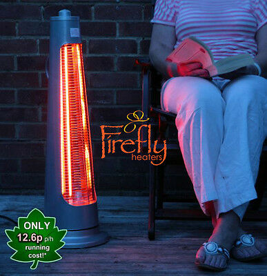 Firefly Streamline Free Standing Electric Halogen Patio Heater Garden Outdoor • 59.99£