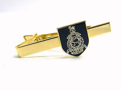 £9.99 • Buy The Royal Marines Badge Tie Clip Slide Pin Navy Military Gift In Box