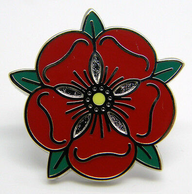 £4.99 • Buy Lancashire Red Tudor Rose Lapel Pin Badge In Free Gift Pouch