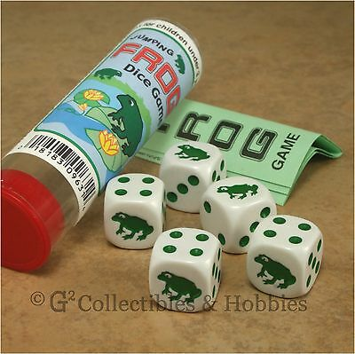 AU9.03 • Buy NEW Jumping Frog Family Dice Game In Tube Pocket Travel Animal Gaming D6