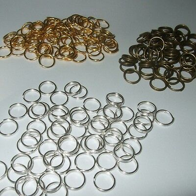 £1.79 • Buy BRONZE SILVER & GOLD SINGLE & DOUBLE JUMP RINGS 4mm 5mm 6mm 7mm 8mm 10mm JR2