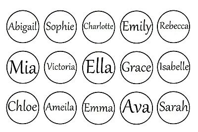 £2.20 • Buy 15 Or 30 X CUSTOMISED NAME 1  ROUND PRE CUT BOTTLE CAP QUALITY IMAGES 4 BOWS
