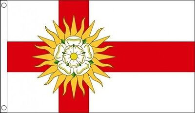 West Riding Of Yorkshire Flag 5 X 3 FT - 100% Polyester With Eyelets County Rose • 4.99£