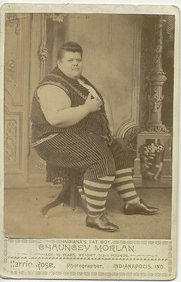 $ CDN112.40 • Buy Cabinet Card Photo ~ Indiana's Fat Boy ~ 513 Pounds Circus Freak