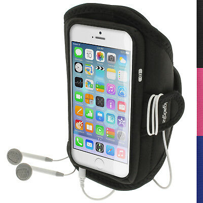 Black Running Jogging Sports Armband For Apple IPhone 6 & 6S 4.7  Fitness Gym • 2.79£