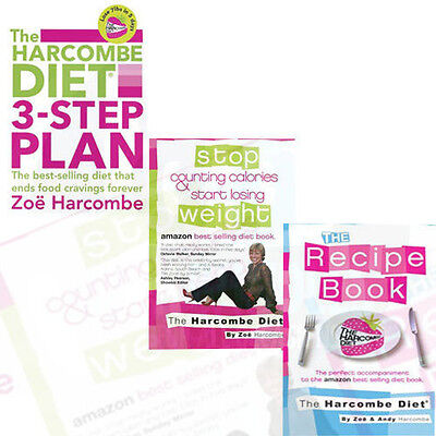 Zoë Harcombe 3 Books Collection Set (Stop Counting Calories,3-step Plan,Recipe) • 24.99£