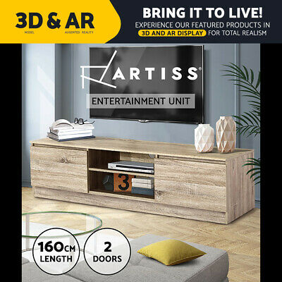 AU139.95 • Buy Artiss TV Cabinet Entertainment Unit Stand Lowline Storage Wooden 160CM