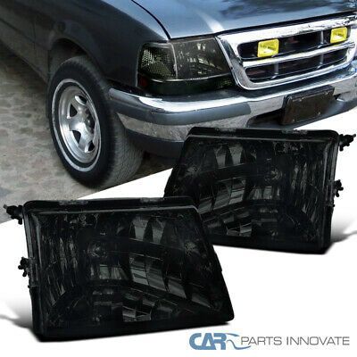 $78.95 • Buy For 98-00 Ford Ranger Pickup Smoke Lens Headlights Tinted Head Lamps Left+Right
