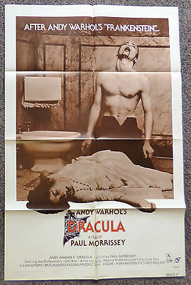 $175 • Buy Andy Warhol's Dracula 1974 Original 1 Sheet Movie Poster X Rated Rare