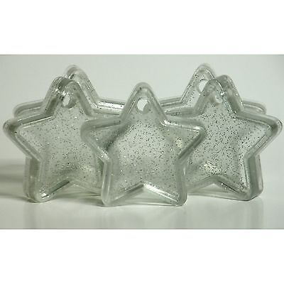 £5.99 • Buy 10 CLEAR SPARKLE STAR Balloon Weights Party Wedding Engagement