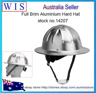 Lightweight Aluminum Full Brim Hard Hat,Safety Helmet,Meet With ANSI Z89.1-2003 • 34.37$