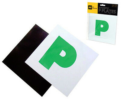 Aa L Plates Magnetic Fully Secure Green New Driver P Plates Just Passed Car • 2.45£