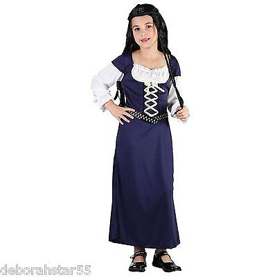 $12.49 • Buy Maid Marion Fancy Dress Girls Medieval Costume Tudor Girl Book Day Costumes 4-12