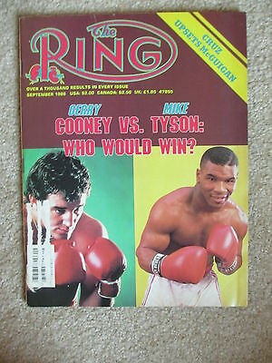 $4.99 • Buy September 1986  Ring Magazine Mike Tyson Gerry Cooney  Cover #2