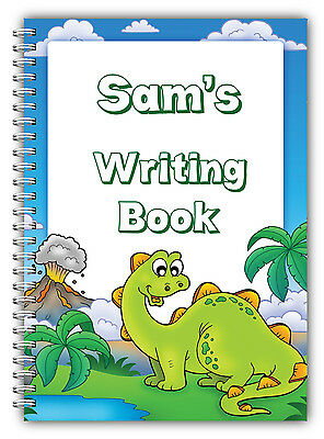 A5 Personalised Children's Notebooks/50 Write Hand Writing Practice Paper/ 03 • 7.90£