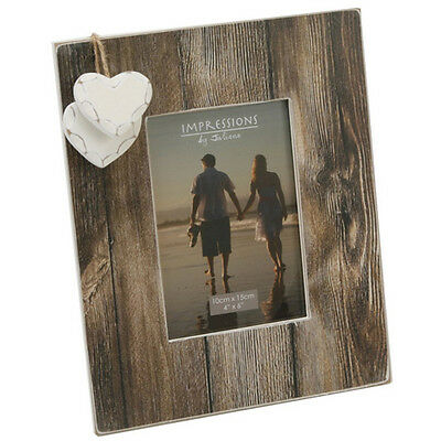 £4.99 • Buy Wood Photo Picture Frame 4  X 6  Gift Stand Home Modern Hearts Present New Decor