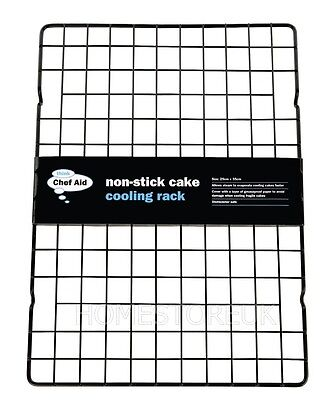 Non Stick Cooling Tray Cake Rack Baking Wire Food Grid Muffin Tray Airing 00053 • 7.95£
